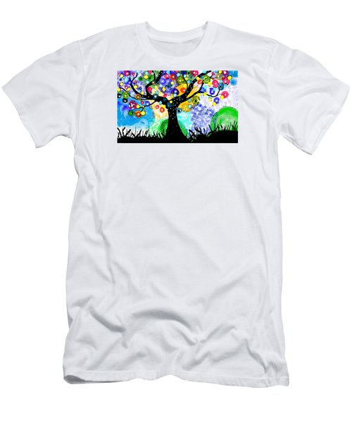 Tree Dance Men's T-Shirt (Slim Fit) by Patricia Arroyo