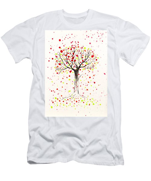 Tree Explosion Men's T-Shirt (Slim Fit) by Stefanie Forck