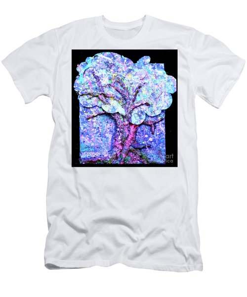 Men's T-Shirt (Slim Fit) featuring the painting Tree Menagerie by Genevieve Esson