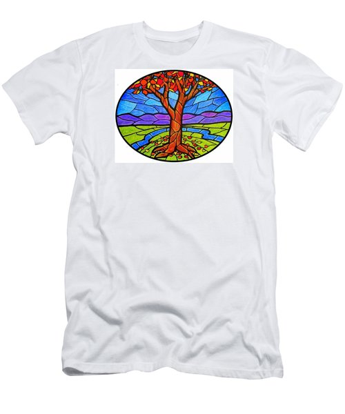 Tree Of Grace - Autumn Men's T-Shirt (Slim Fit) by Jim Harris