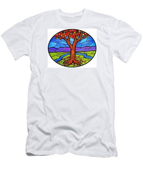 Tree Of Grace - Autumn Men's T-Shirt (Slim Fit)