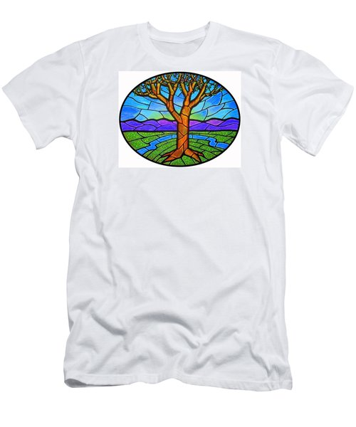 Tree Of Grace - Spring Men's T-Shirt (Slim Fit) by Jim Harris