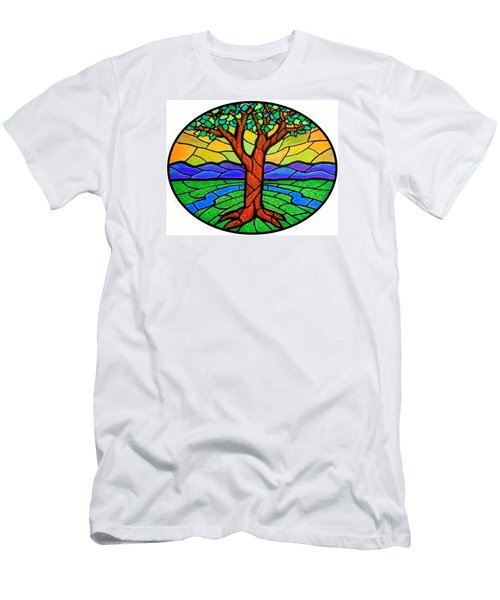 Tree Of Grace - Summer Men's T-Shirt (Slim Fit) by Jim Harris