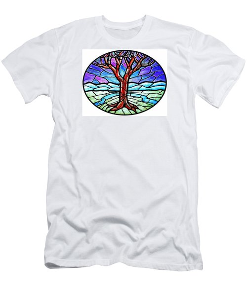 Tree Of Grace - Winter Men's T-Shirt (Slim Fit) by Jim Harris