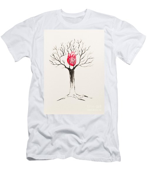 Tree Of Hearts Men's T-Shirt (Slim Fit) by Stefanie Forck