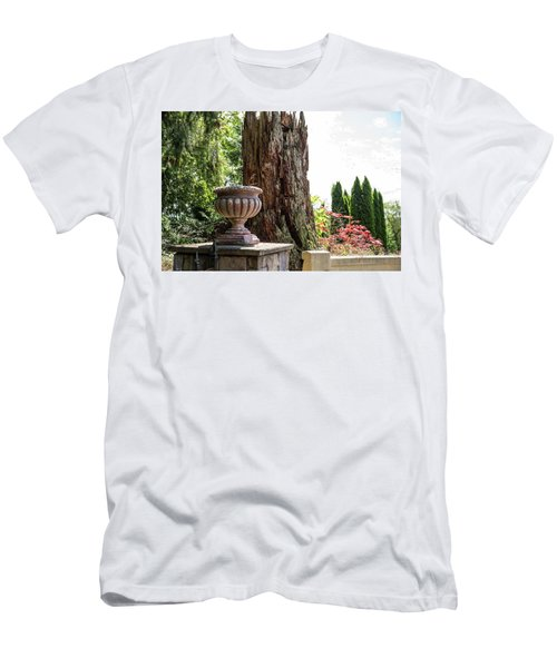 Tree Stump And Concrete Planter Men's T-Shirt (Athletic Fit)