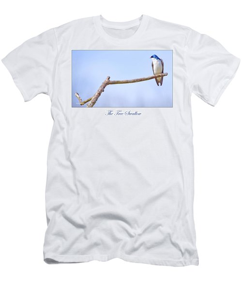 Tree Swallow On Branch Men's T-Shirt (Slim Fit) by A Gurmankin