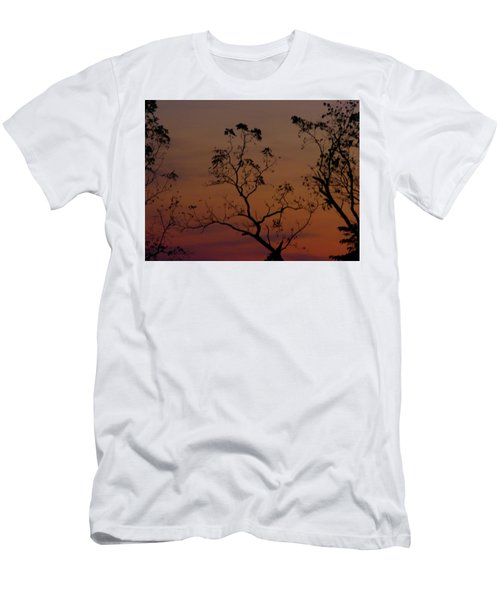 Men's T-Shirt (Slim Fit) featuring the photograph Tree Top After Sunset by Donald C Morgan