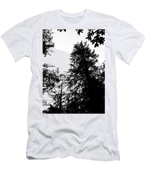 Tree Tops In Monotone Men's T-Shirt (Athletic Fit)