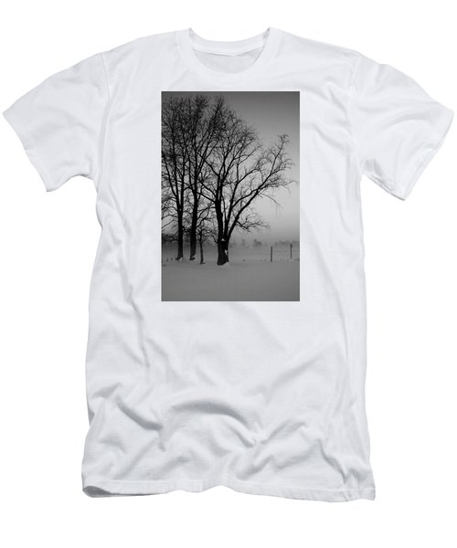 Men's T-Shirt (Slim Fit) featuring the photograph Trees In The Fog by Karen Harrison