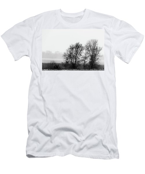 Trees In The Mist Men's T-Shirt (Slim Fit) by Jay Stockhaus