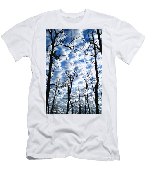 Men's T-Shirt (Slim Fit) featuring the photograph Trees In The Sky by Shari Jardina
