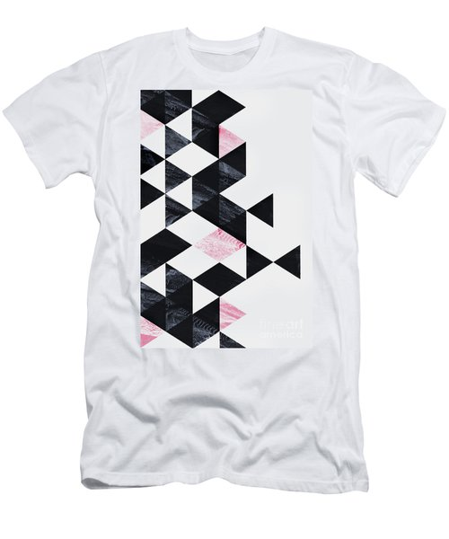 Triangle Geometry Men's T-Shirt (Athletic Fit)