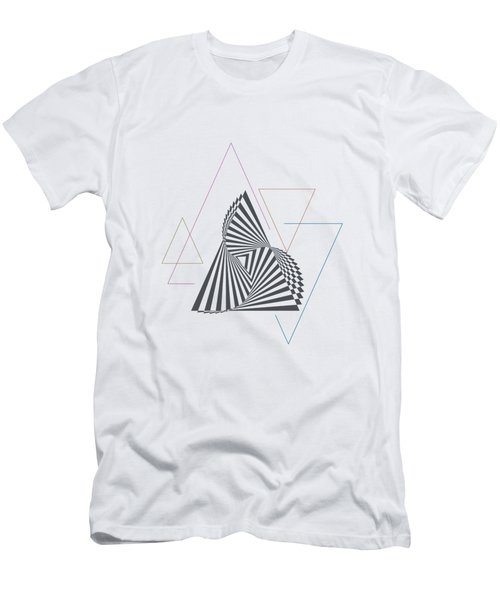 Triangle Op Art Men's T-Shirt (Athletic Fit)