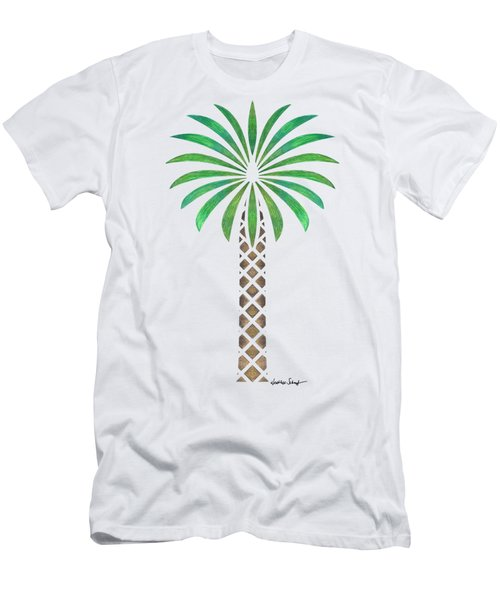Tribal Canary Date Palm Men's T-Shirt (Slim Fit) by Heather Schaefer