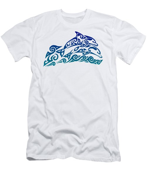 Tribal Dolphins Men's T-Shirt (Athletic Fit)