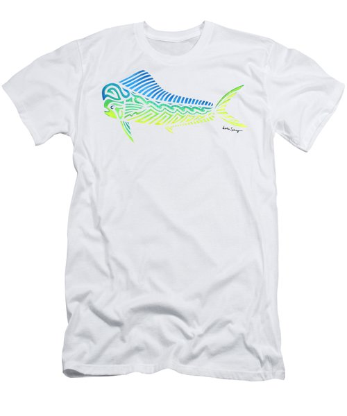 Tribal Mahi Mahi Men's T-Shirt (Athletic Fit)