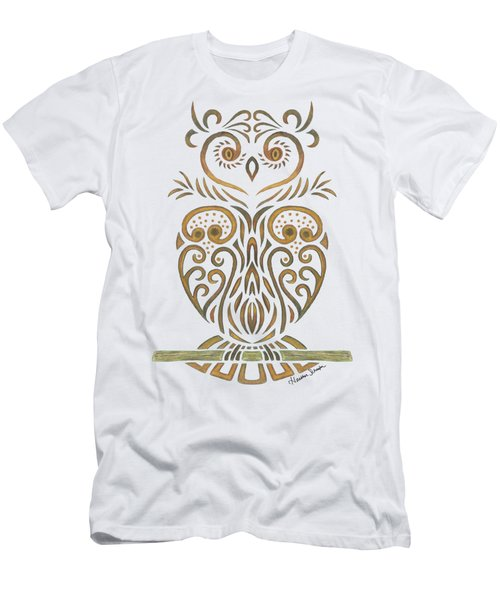 Tribal Owl Men's T-Shirt (Athletic Fit)
