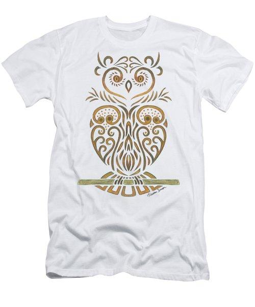Tribal Owl Men's T-Shirt (Athletic Fit)