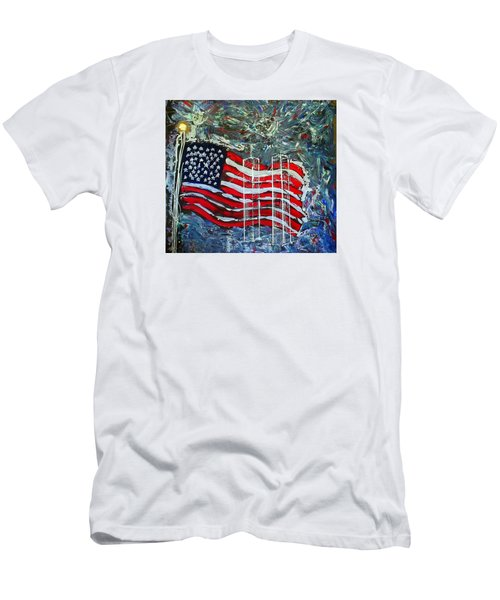 Men's T-Shirt (Slim Fit) featuring the mixed media Tribute by J R Seymour