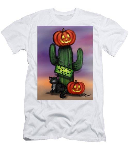 Trick Or Treat Cactus Men's T-Shirt (Athletic Fit)