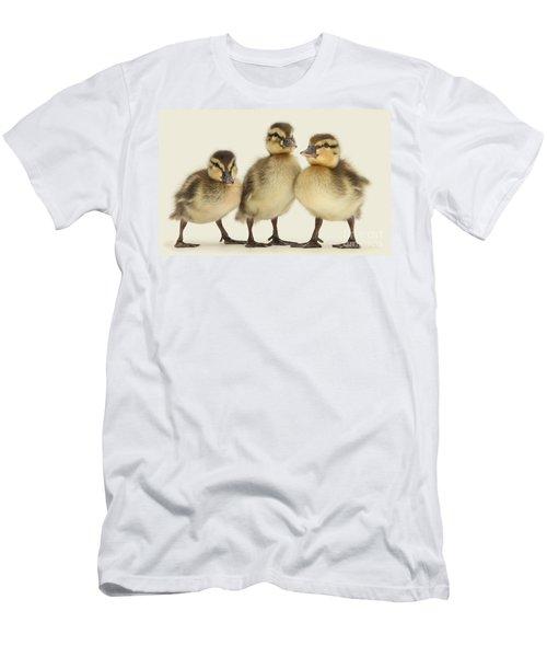 Triple Ducklings Men's T-Shirt (Athletic Fit)