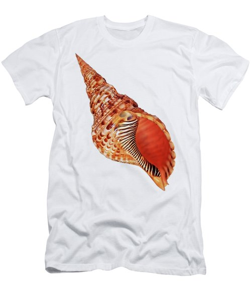 Triton Shell On White Vertical Men's T-Shirt (Athletic Fit)