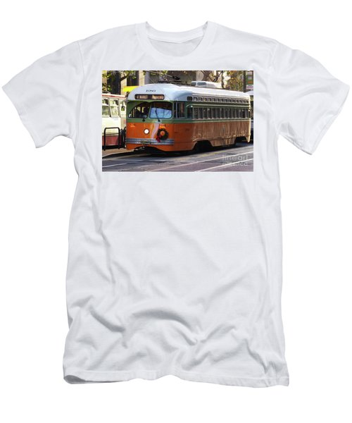 Men's T-Shirt (Slim Fit) featuring the photograph Trolley Number 1080 by Steven Spak