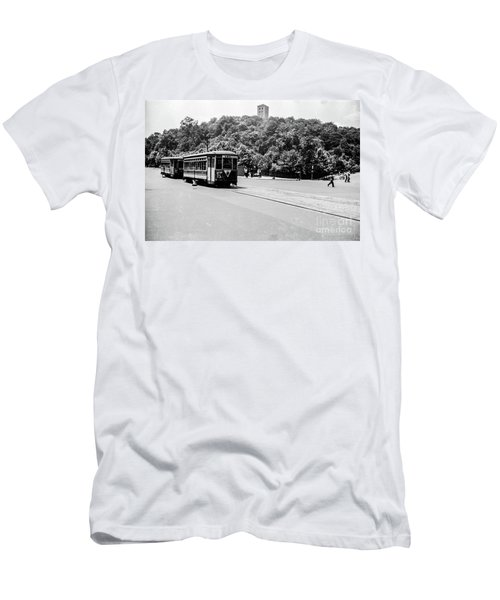 Men's T-Shirt (Athletic Fit) featuring the photograph Trolley With Cloisters by Cole Thompson