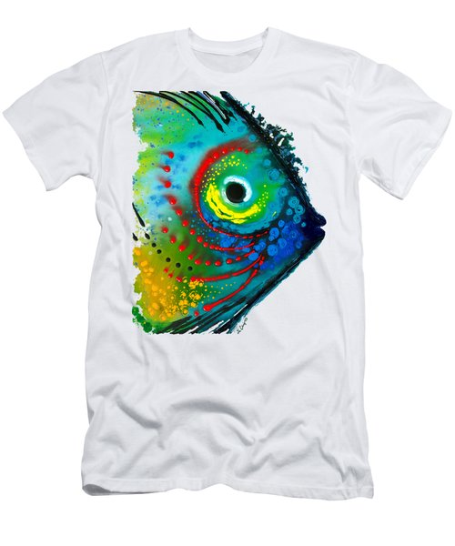 Tropical Fish - Art By Sharon Cummings Men's T-Shirt (Slim Fit) by Sharon Cummings