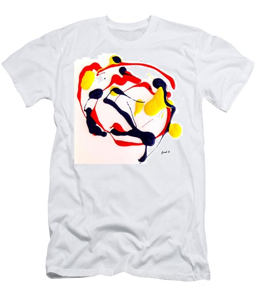 Men's T-Shirt (Slim Fit) featuring the painting Tropical Fish by Fred Wilson