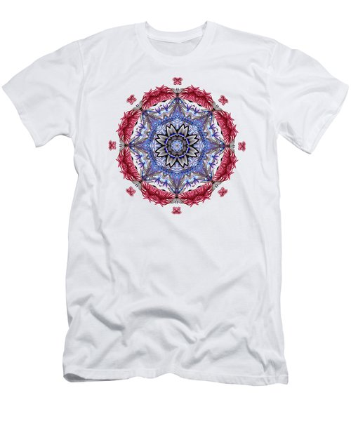 Tropical Mandala By Kaye Menner Men's T-Shirt (Athletic Fit)