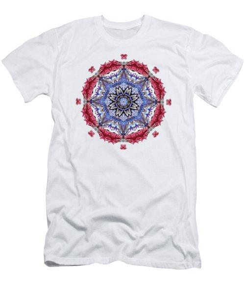 Tropical Mandala By Kaye Menner Men's T-Shirt (Athletic Fit)