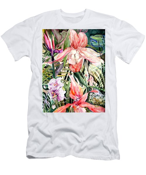 Tropical Orchids Men's T-Shirt (Athletic Fit)