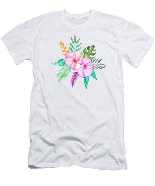 Tropical Watercolor Bouquet 78 Men's T-Shirt (Athletic Fit)