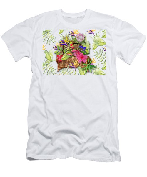 Tropicals In A Basket Men's T-Shirt (Athletic Fit)