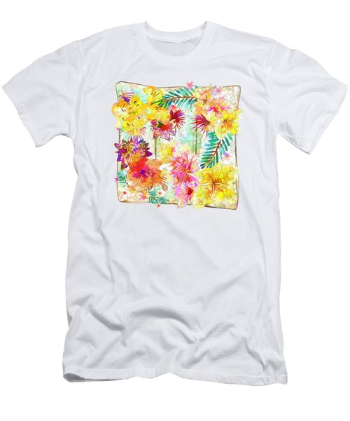 Tropicana Abstract By Kaye Menner Men's T-Shirt (Slim Fit) by Kaye Menner