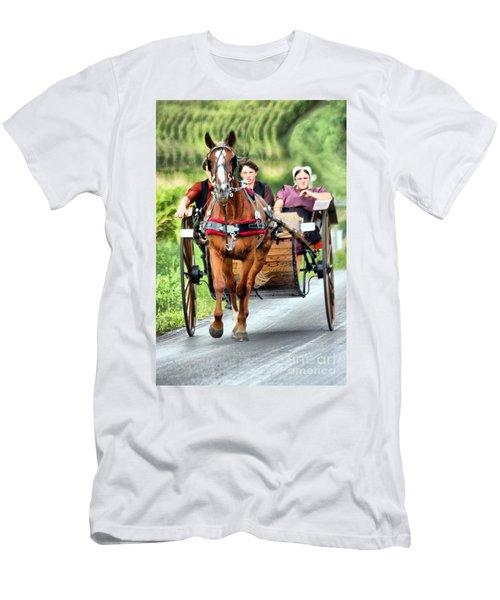 Trotting Along Men's T-Shirt (Athletic Fit)