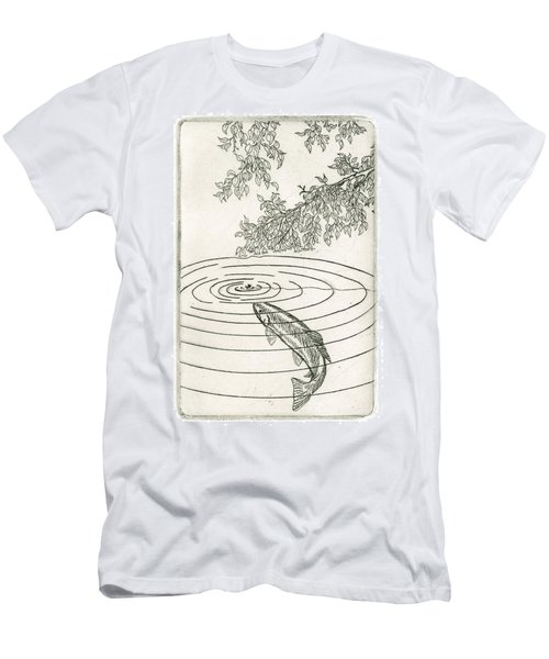 Trout Rising To Dry Fly Men's T-Shirt (Athletic Fit)