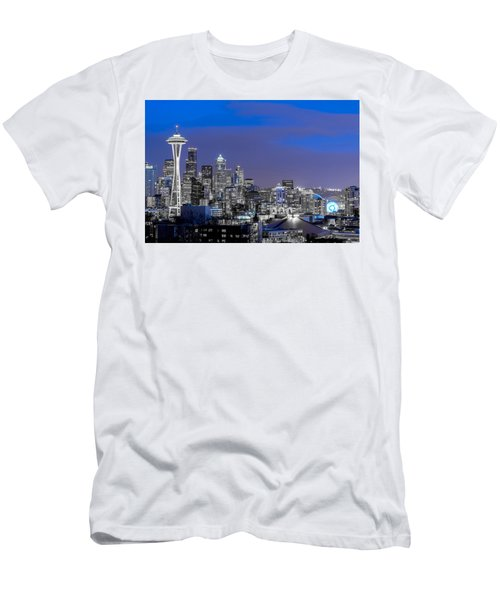 True To The Blue In Seattle Men's T-Shirt (Slim Fit) by Ken Stanback