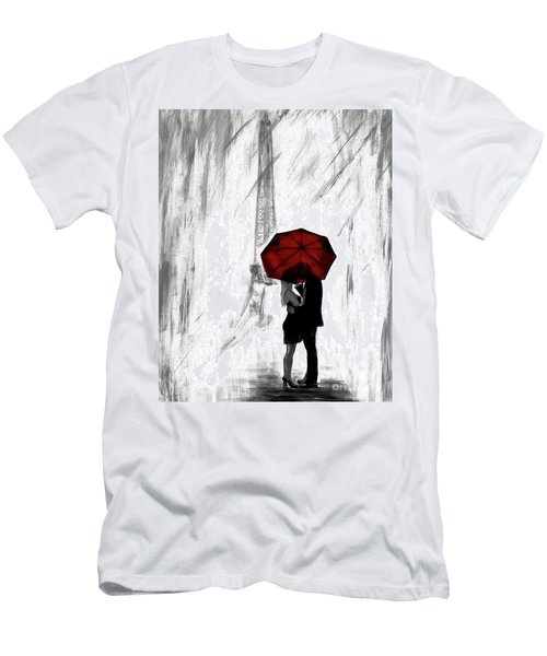 Men's T-Shirt (Athletic Fit) featuring the painting Truly All Yours by Leslie Allen
