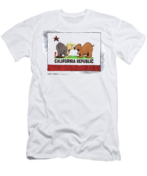 Trump And California Face Off Men's T-Shirt (Athletic Fit)