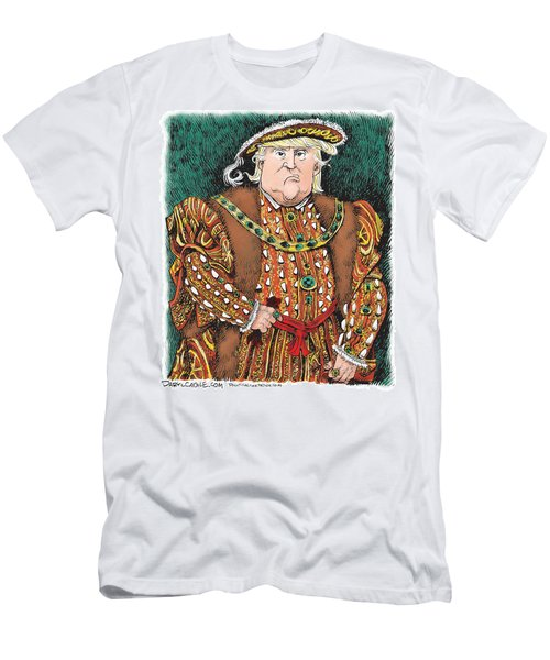 Trump As King Henry Viii Men's T-Shirt (Athletic Fit)