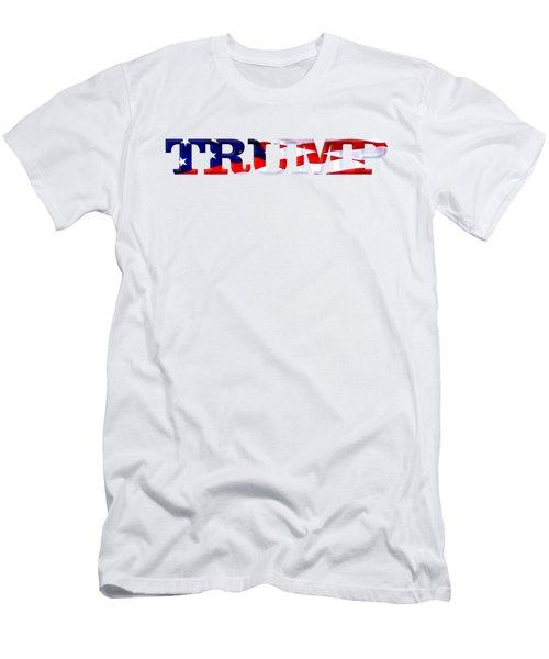 Trump - Fort Mchenry Flag Overlay Men's T-Shirt (Slim Fit) by William Bartholomew