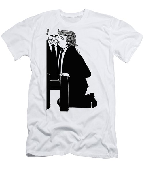 Trump On Knees Men's T-Shirt (Athletic Fit)