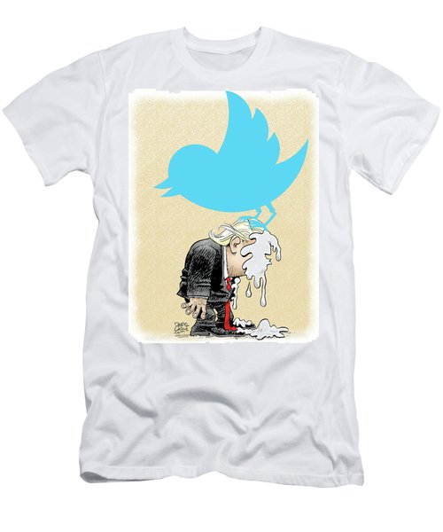 Trump Twitter Poop Men's T-Shirt (Athletic Fit)