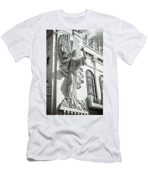 Men's T-Shirt (Athletic Fit) featuring the photograph Trumpeting Angel by Guy Whiteley