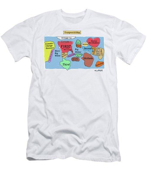 Trumpworld Map Men's T-Shirt (Athletic Fit)