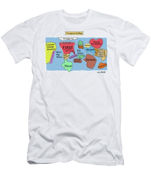 Trumpworld Map Men's T-Shirt (Athletic Fit)