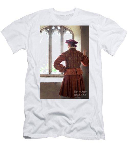 Tudor Man At The Window Men's T-Shirt (Slim Fit) by Lee Avison